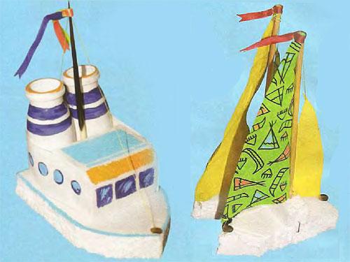 Как сделать кораблик из разных материалов
